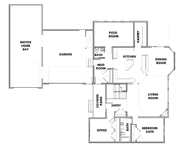 2 story house floor plans. 2-Story House Plan